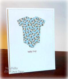 A Clean and Simple Doodlebug Designs Baby Card, Cricut, CCR , Cricut Craft Room, MFT, My Favorite Things