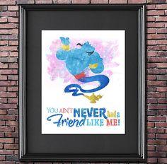 "Genie ""Friend Like Me"" 8x10 Poster - DIGITAL DOWNLOAD / Instant Download / Printable"