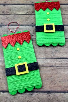 Elf Popsicle stick craft for Christmas. This craft for kids is so much fun. They can make their own diy elf ornaments! Elf Popsicle stick craft for Christmas. This craft for kids is so much fun. They can make their own diy elf ornaments! Popsicle Stick Christmas Crafts, Popsicle Crafts, Christmas Crafts For Kids To Make, Xmas Crafts, Craft Stick Crafts, Popsicle Sticks, Craft Sticks, Spring Crafts, Yarn Crafts