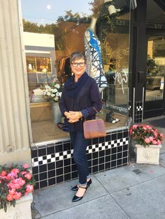 Sticking with my navy theme from Sunday to Monday on Brenda Kinsel website