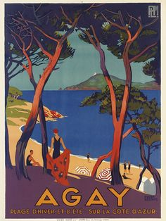 Roger Broders' Agay poster going up for auction by Christie's in May #nostalgia #frenchriviera