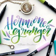Hermione Granger for week 3 of #hplettering  @hplettering #harrypotter #hermionegranger #jkrowling #tombow #tombowusa #tombowdualbrushpens #alissecourter