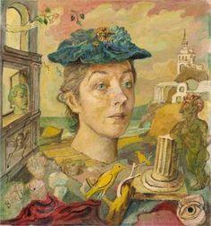 David Burliuk (1882 1967) | Surrealism | Homage to the artist's wife, Marusia - 1945