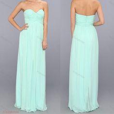Mint bridesmaid dress  long bridesmaid dress / by KissyBride, $94.00