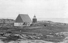 Kökar Church + Cemetary, Åland / Ahvenanmaa, Finland  c1890  Kökar Church at Åland islands in the Baltic Sea. The church at Kökar island was inaugurated in 17...