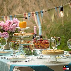 Menaje para tu #Jardin #terraza   vajilla para el te junto con unas bandeitas hechas por mi....