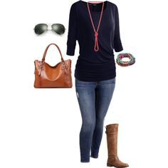Plus Size Fall Outfit by jmc6115 on Polyvore featuring Old Navy, Madden Girl, Red Camel, Ray-Ban, Fall, CasualChic and plussize