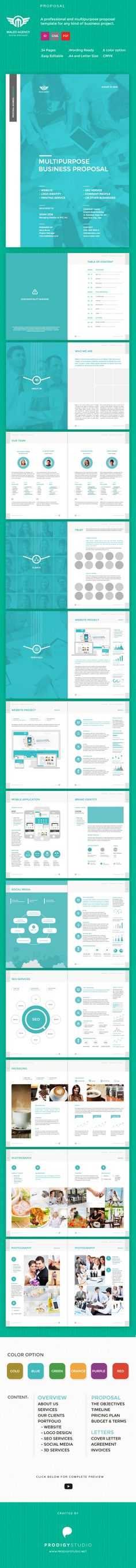 Proposal Template Proposal templates, Brochures and Invoice layout - best proposal templates