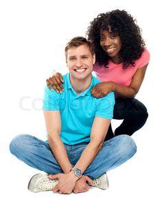 Stock image of 'Love couple sitting on floor'