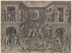 Marcantonio Raimondi; Martyrdom of Saint Lawrence (Italian engraving after Baccio Bandinelli, c. 1500-34); Metropolitan Museum of Art, New York