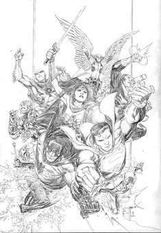Jim Lee's Cover - and DC's New Logo - for Snyder's Justice League #1