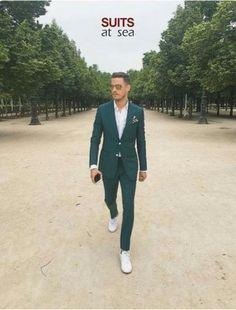Wedding suits men green guys super ideas is part of Wedding suits men - Mens Attire, Groom Attire, Groom Outfit, Mens Fashion Suits, Mens Suits, Men's Fashion, Wedding Men, Wedding Suits, Green Suit Men