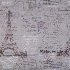 Gray Parisian Paris eiffel Tower Fabric Cotton Quilting Apparel Crafts Home decor Hobby Lobby Fabric, Little Dog Names, French Fabric, Print Coupons, Fabulous Fabrics, Green Life, Fabric Online, Parisian, Fabric Design