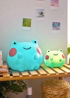 Big Ebbo Frog Night Light | Shopzoki Rainbow Sky, Rainbow Glass, Frog House, Pet Frogs, Otaku Room, Kawaii Room, Cute Room Decor, Its My Bday, Frog And Toad