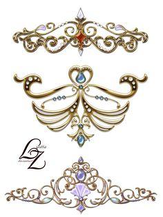 Crown Tiara Lyotta by Lyotta.deviantart.com on @DeviantArt