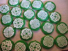 Stenciled Celtic design for St Patrick's Day.