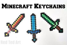 We adore Minecraft crafts and these minecraft sword keychains are simple and fun to make. We have more Minecraft crafts such as this great moneybox. Love it