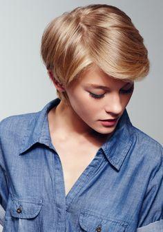 blonde cheveux court