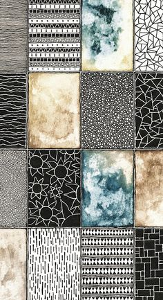 Patterns by rebeccablairart.tumblr.com. Beautiful patterns!