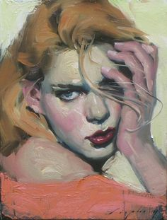 Malcolm Liepke, Hand to Cheek 2014, oil on canvas