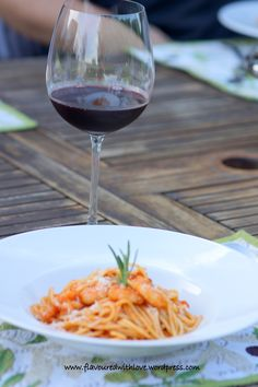 Spaghetti mit Garnelen – Flavoured with Love