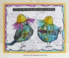 Alie Hoogenboezem-de Vries: Loveable Tim Holtz Crazy Birds