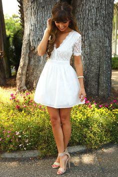 My Secret Love Dress: White #shophopes