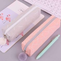 New Concise Solid color Girls pencil case student stockin … – Bag World Pencil Cases For Girls, Cute Pencil Case, School Pencil Case, Stationary School, Cute Stationary, School Stationery, School Suplies, Cool School Supplies, School Accessories