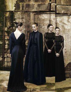 Valentino haute couture F/W 2012/2013. Photo: Deborah Turbeville. Vogue Italia, September 2012.