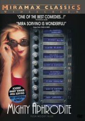 Official theatrical movie poster ( of for Mighty Aphrodite Directed by Woody Allen. Starring Woody Allen, Mira Sorvino, Helena Bonham Carter, F. Mira Sorvino, Helena Bonham Carter, Woody Allen, Great Films, Good Movies, Excellent Movies, Amazing Movies, Jack Warden, Greek Chorus