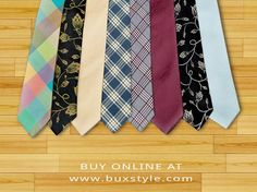 Premier quality silk and wool hand crafted ties.. All ties are proudly made in Pakistan. Buy online at www.buxstyle.com