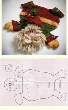 KUFER z artystycznym rękodziełem : Szmacianki - wykroje Christmas Sewing, Felt Christmas, Christmas Projects, Holiday Crafts, Mer… Christmas Projects, Felt Crafts, Holiday Crafts, Fabric Crafts, Sewing Crafts, Diy And Crafts, Christmas Sewing, Christmas Holidays, Father Christmas