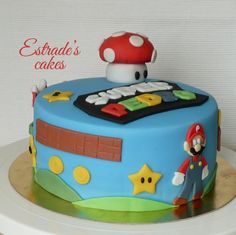 Estrade's cakes: tarta de Mario Bros. Sin lactosa.