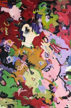 "Coloring Memories 36"" x 24"" acrylics/canvas"