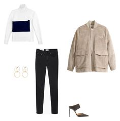 """""""Untitled #165"""" by bronteamelia ❤ liked on Polyvore featuring Acne Studios, H&M, Gianvito Rossi, J.W. Anderson and Charlotte Chesnais"""