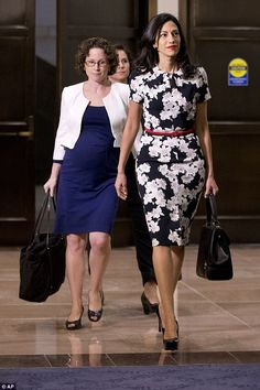 She's pictured arriving to her closed-door hearing this morning.Congress is currently in recess, but the committee convened today to hear from her