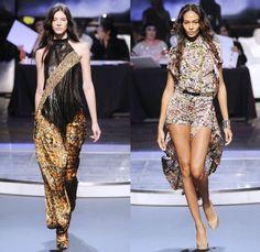 Jean Paul Gaultier 2014 Spring Summer Womens Runway Collection - Paris Fashion Week - Mode à Paris - Ballroom Dancers Fringes Flapper Patchw...