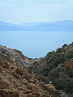 the Dead Sea from Ein Gedi Natural Reserve