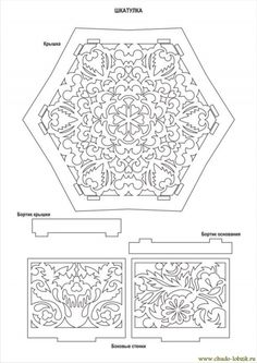 Выпиливание Чертеж поделки шкатулка Aserrado dibujo artesanías caja 1