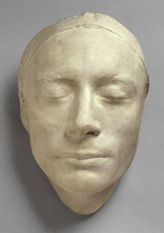John Keats (1795-1821), the English romantic poet, died in Rome at age 25 of tuberculosis. This is his death mask.