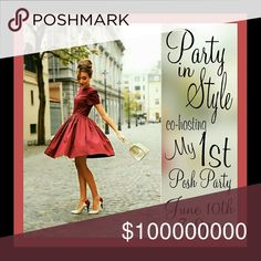 My 1st Posh Party - Shabby Chic Style Please join me and my co-host @cathsattire as we host our first posh party!! I love shabby chic style. Romantic, breezy, classic bohemian, lacy, ruffled, and beautifully feminine with Parisienne flair!  Muted shades of pink, chartreuse, beige, blush and champagne. Classic crystal statement jewelry that complete and not compete an outfit. Boutique one of a kind furry, fun and feminine. Classic Kate Spade to whimsical Betsey Johnson. HPs will be those that…