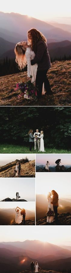 If you love mountain views + lush rainforests, consider Olympic National Park for your wedding day Winter Wedding Destinations, Destination Wedding Locations, Bohemian Wedding Inspiration, Destination Wedding Inspiration, Us National Parks, Grand Teton National Park, Stunning Summer, Wedding Photos, Wedding Ideas