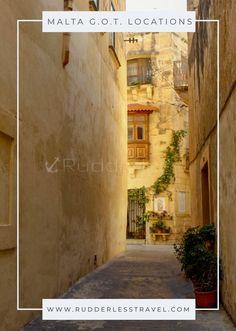The Ultimate Game Of Thrones Malta Locations - Rudderless Travel Europe Destinations, Europe Travel Guide, Amazing Destinations, Travel Guides, Travelling Europe, Traveling, European Vacation, European Travel, Malta