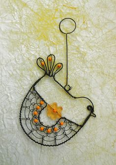 Wire Crafts, Metal Crafts, Jewelry Crafts, Wire Ornaments, Wire Tutorials, Wire Flowers, Beaded Animals, Beads And Wire, Wire Art