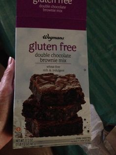 I made Wegman's Double Chocolate Gluten Free Brownies, added more semi sweet chips and they turned out delicious.  Need to cool more before taking out of pan as they're gooey.  Yum!