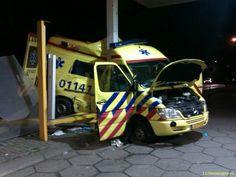 Crashed Dutch Ambulance
