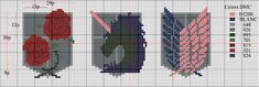 Attack on Titan Cross Stitch Key Chains