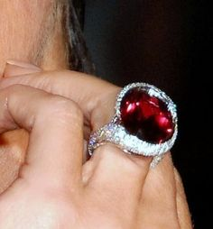 Victoria Beckham Ring is crazy huge. Next level