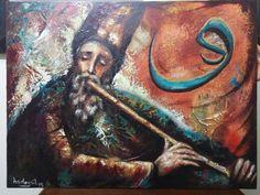 Sufi derviş yağlı boya tablom