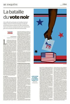 Isabel Espanol for Le Monde: The importance of black vote for democrate campaign L'importance du vote noir pour les démocrates durant les primaires http://www.isabelespanol.com/